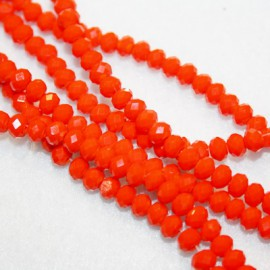 Cristal facetado naranja opal