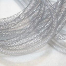 Malla tubular gris de 4mm
