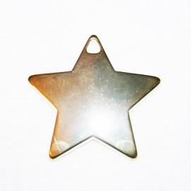 Estrella grande dorada