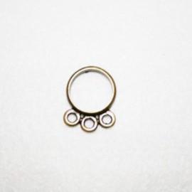 Aro con 3 anillas bronce
