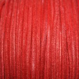 Cuero navy rojo