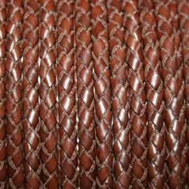 Trenzado 4mm marrón x cm