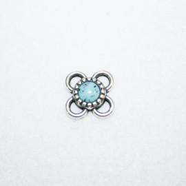 Conector flor c/turq.