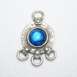 Colgante 3 anillas azul
