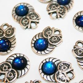 Buho resina azul