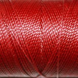 Hilo poliester rojo intenso