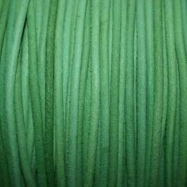 Cuero navy verde
