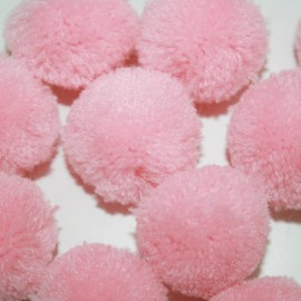 Pompon rosa grande