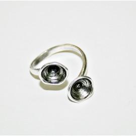Anillo para dos cristales de 8,16mm