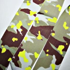 Lycra plana 30mm camuflaje amarillo