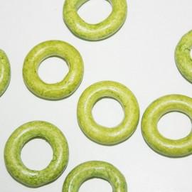 Aro de cerámica grande verde