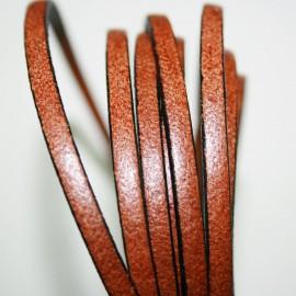 Cuero plano marrón claro 5mm