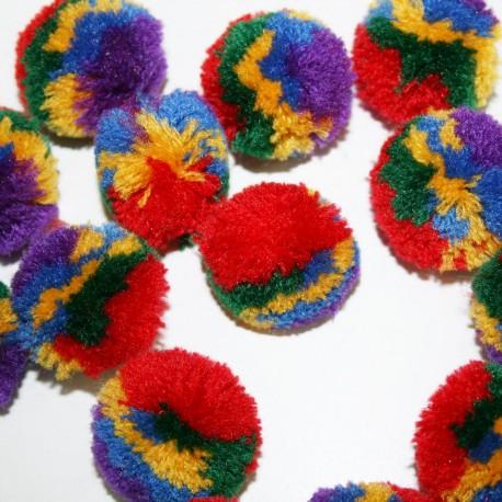 Pompon multicolor grande
