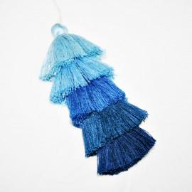 Borla 5 colores grande azul
