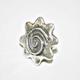Anillo flor espiral x 2 unidades