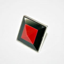 Anillo resina roja x 2 unidades