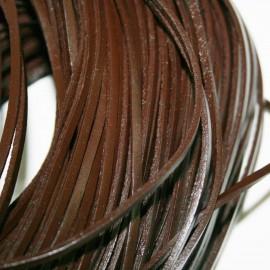 Cuero natural plano de 3mm marrón