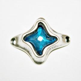 Conector estrella con resina azul