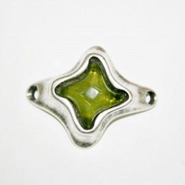 Conector estrella con resina verde oliva