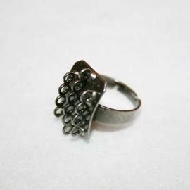 Anillo con anillas plata vieja
