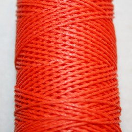 Hilo algodón encerado naranja x 5 metros