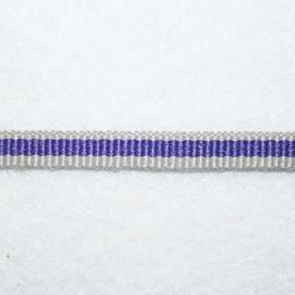 Gros grain gris y violeta