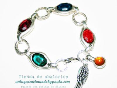 pulsera con resinas de colores_5828