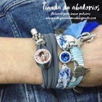 Nuevas ideas con piezas bañadas en plata. Tres pulseras con piezas de zamak y cristal de Swarovski que te van a gustar...