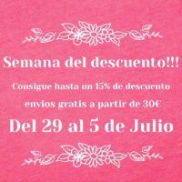 Semana del descuento!!! Del 29 al 5 de Julio!!!