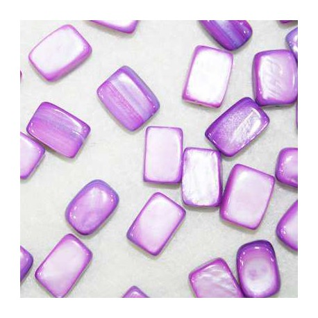 Cuenta madreperla color violeta