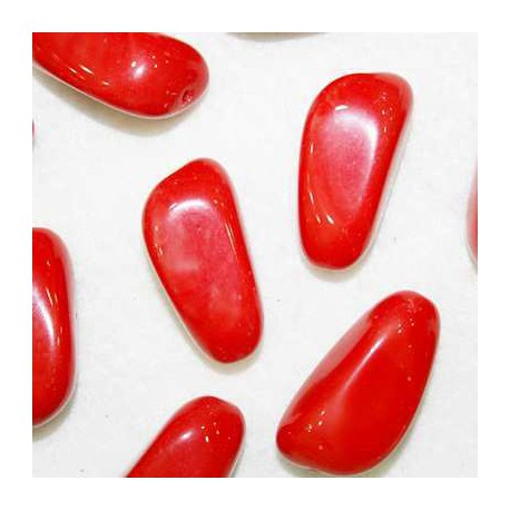 Cuenta de cristal alargado rojo