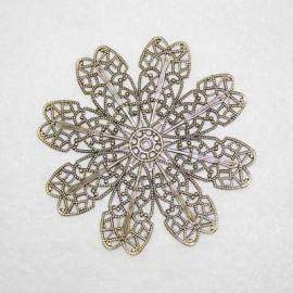 Base Flor 8 petalos bronce