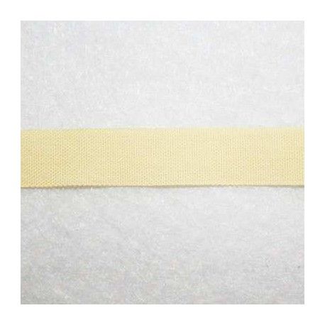 Cinta tela amarillo claro 10mm