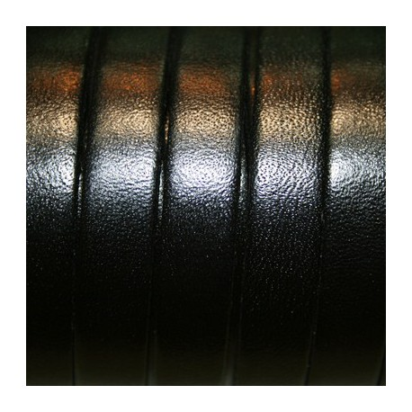 Cuero plano natural negro 10mm
