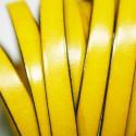 Cuero plano natural mostaza 10mm