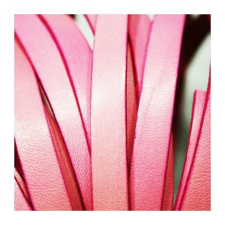 Cuero plano rosa 10mm