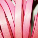 Cuero plano natural rosa 10mm