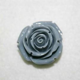Rosa de resina grande gris