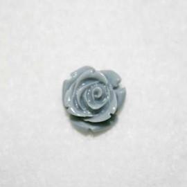 Rosa de resina pequeña gris