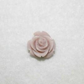 Rosa de resina pequeña rosa palo