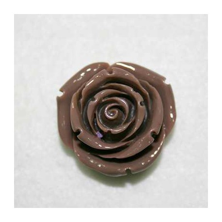 Rosa de resina grande marrón