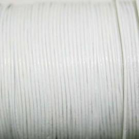 Cuero redondo 1mm blanco