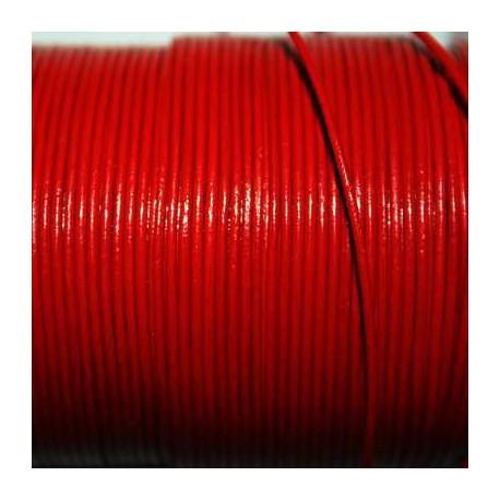 Cuero redondo 1mm rojo