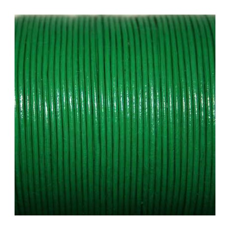 Cuero redondo 1mm verde