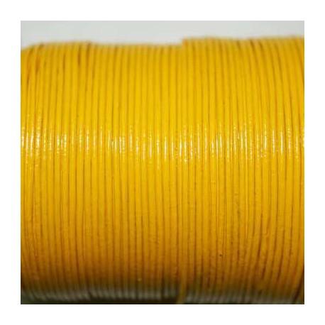 Cuero redondo 1mm amarillo