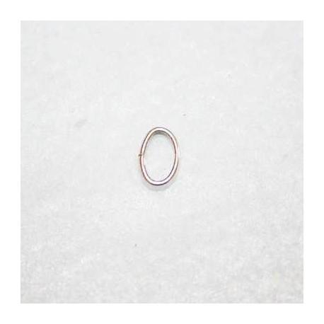 Anilla oval baño de plata 9x6.5mm