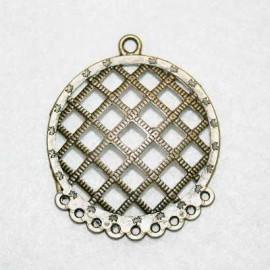 Base cuadriculada, pendientes bronce