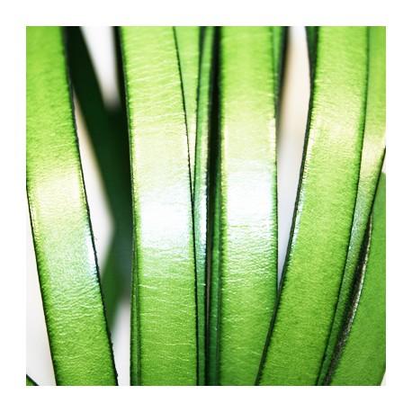 Cuero plano verde claro 10mm