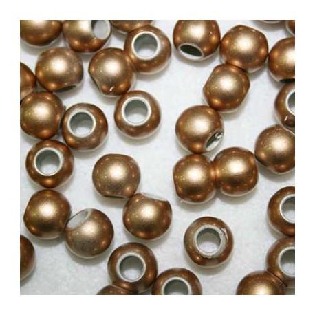 Perla sintética dorada paso 5mm