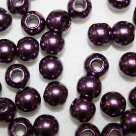 Perla sintética morada paso 5mm